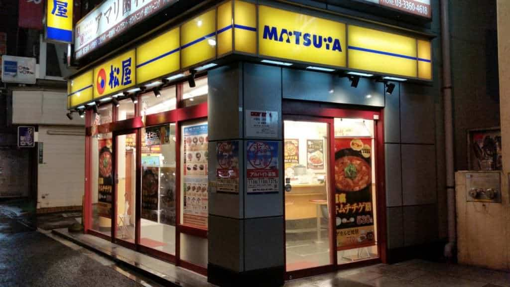 Matsuya Lokal in Tokio