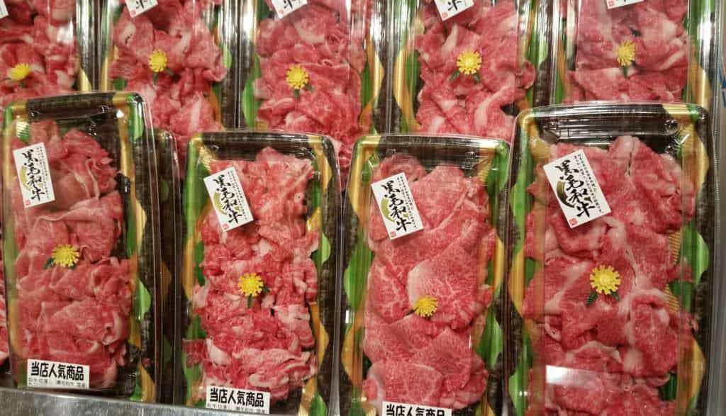 Rindfleisch verpackt im Supermarkt
