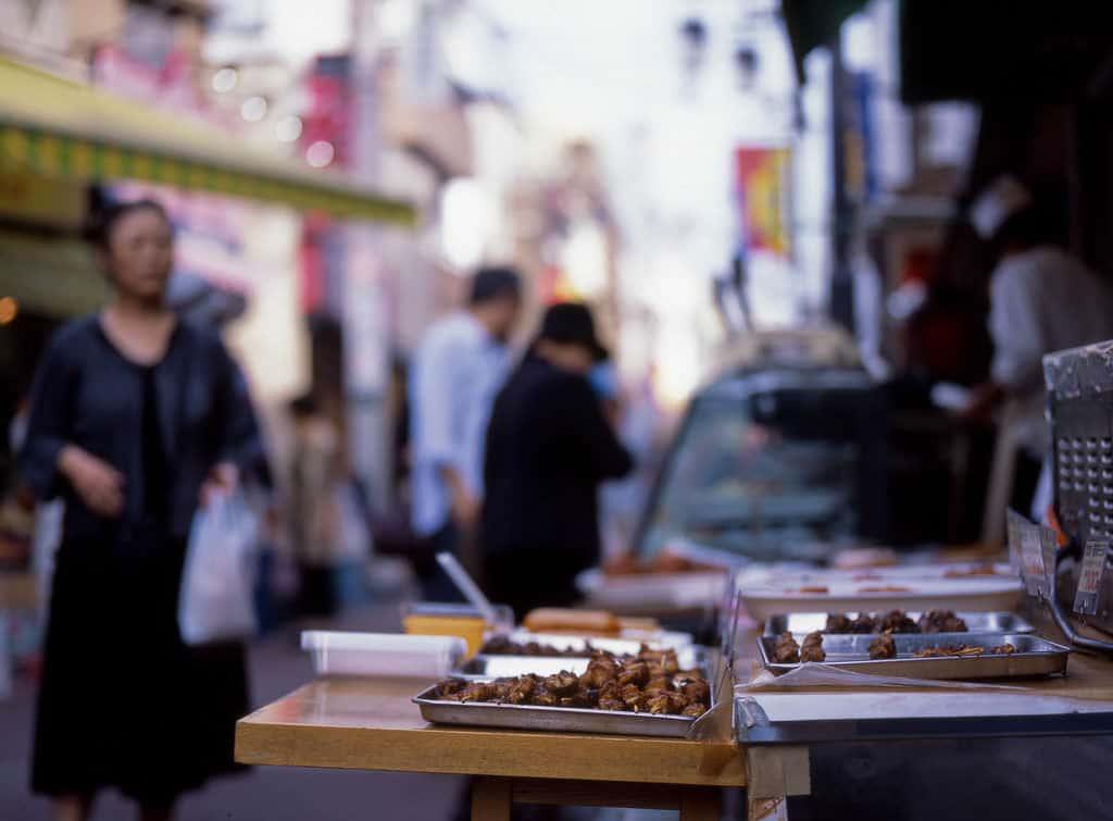 Yakitori Straßenimbiss