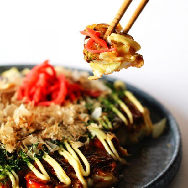 Grundrezept Okonomiyaki Fertig