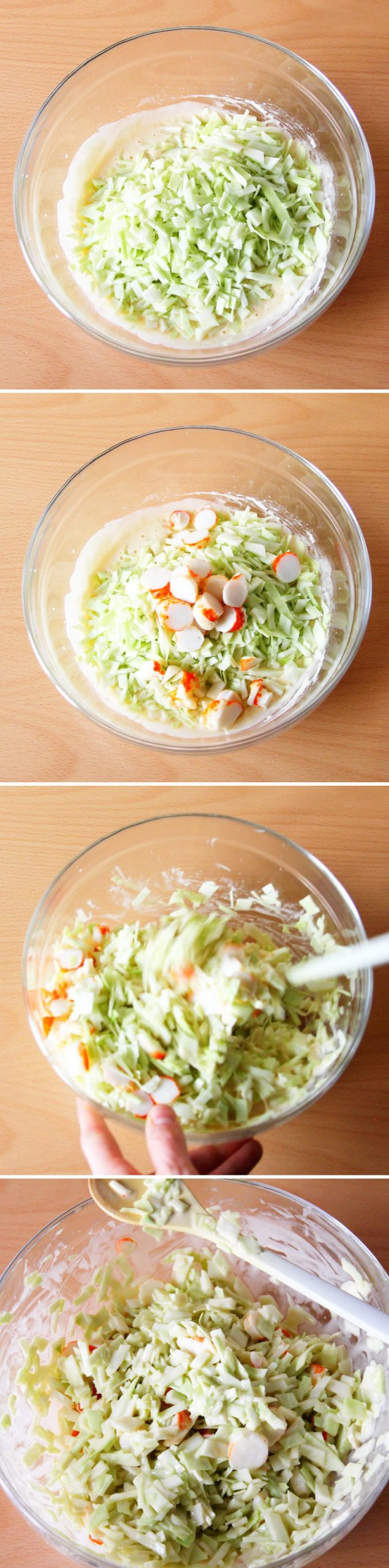 Grundrezept Okonomiyaki Schritt 5 Teig herstellen
