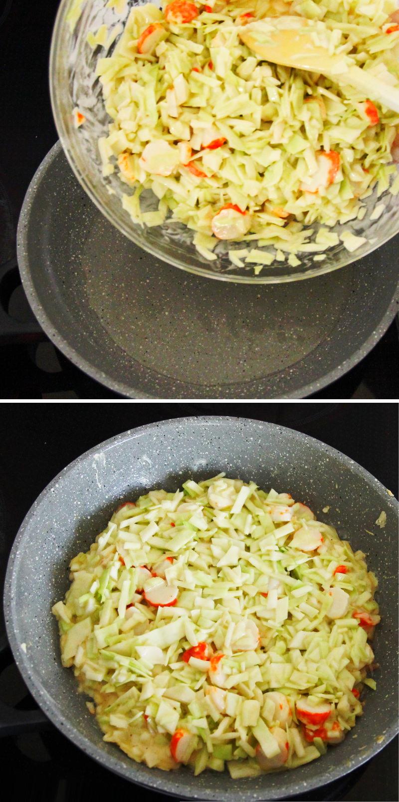 Grundrezept Okonomiyaki Schritt 6 Teig braten