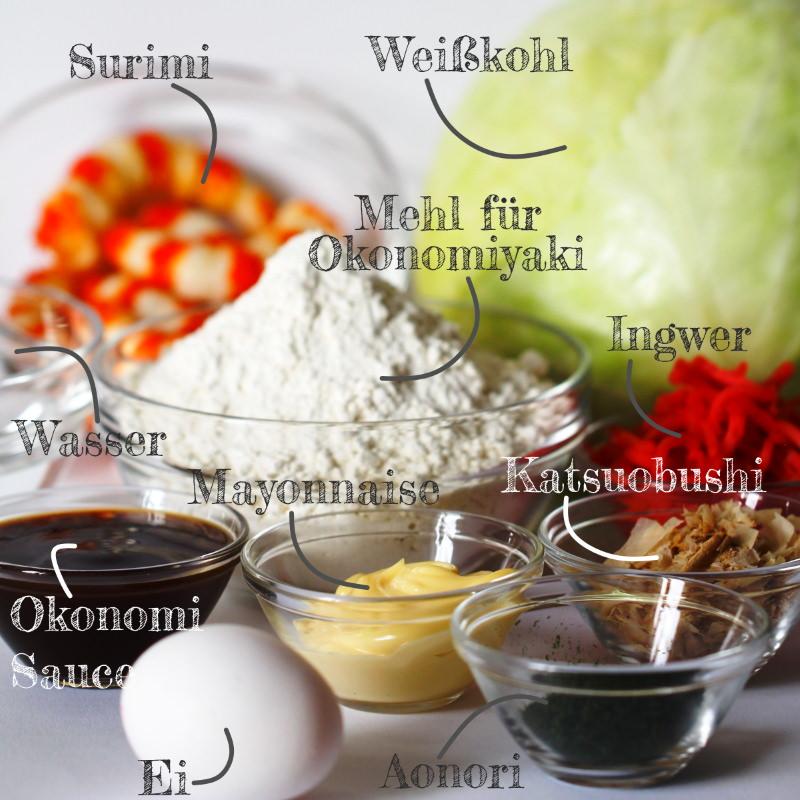 Grundrezept Okonomiyaki Zutaten