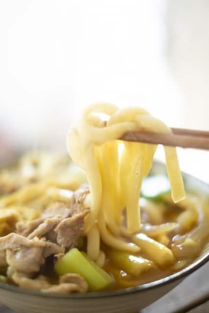 Kare Udon Leckere Udon Nudeln auf klassischem japanischem Curry.