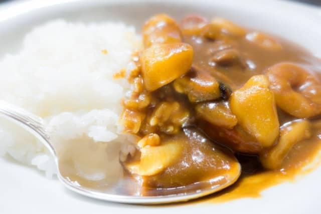 Meeresfrüchte-Curry mit Garnelen.
