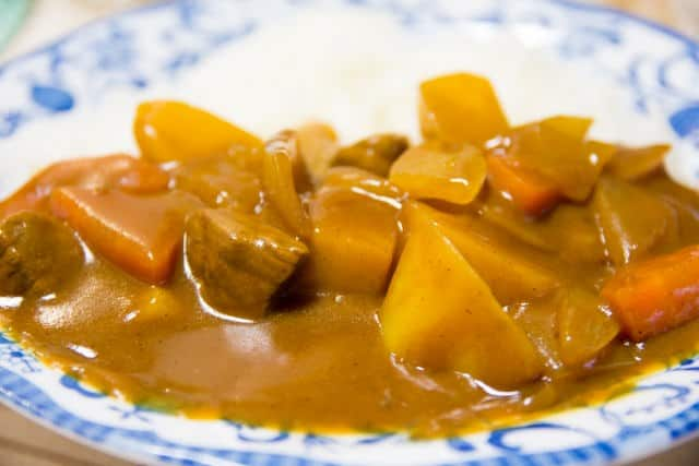 Japanisches Curry mit Rindfleisch.