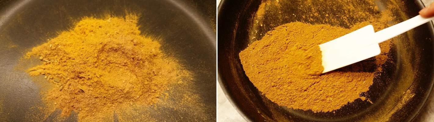 Japanisches Currypulver Schritt 3 Gewürze rösten