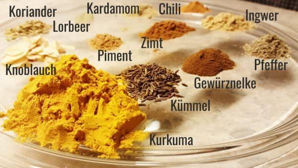 Japanisches Currypulver Zutaten