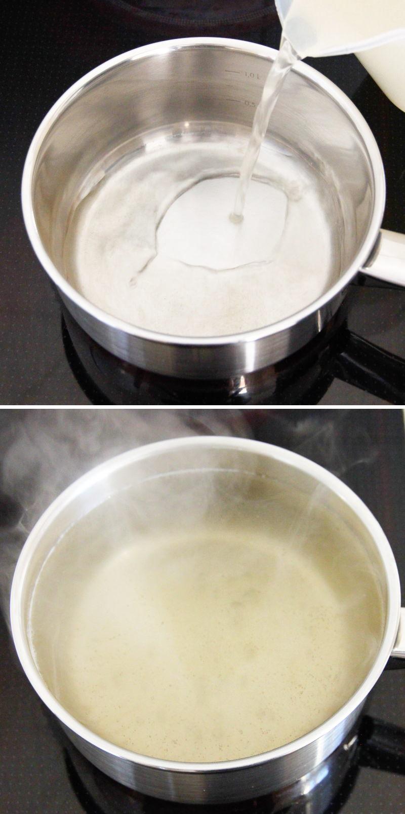 Miso-Suppe Schritt 4 Dashi Brühe aufkochen