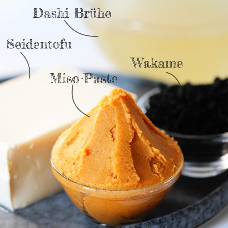 Miso-Suppe Zutaten