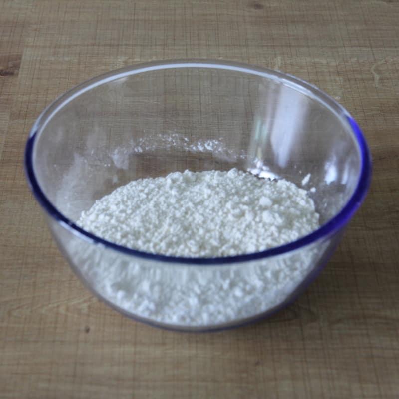 Rezept Tempura Teig vorbereiten Mehl