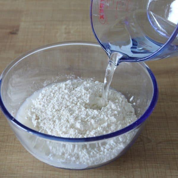 Rezept Tempura Teig vorbereiten Wasser
