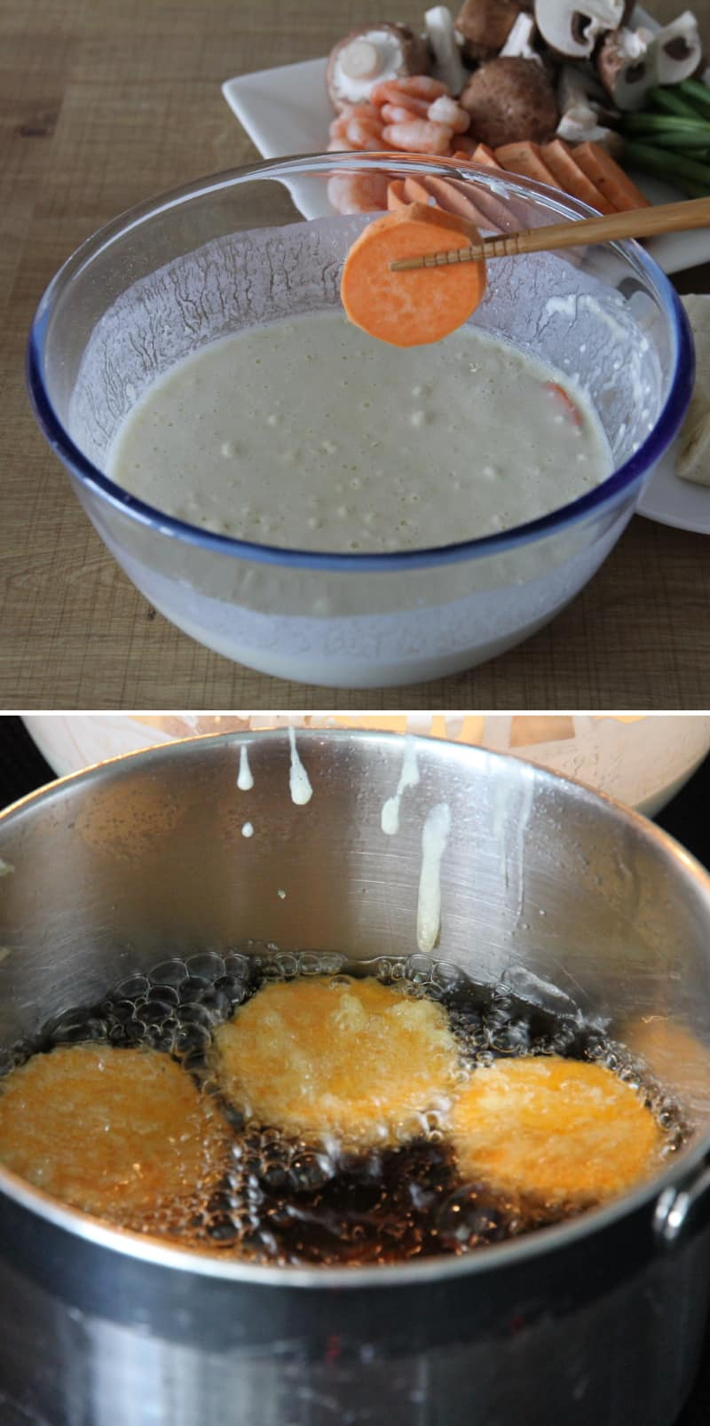 Rezept Tempura in Öl frittieren