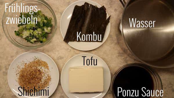 yudofu-zutaten
