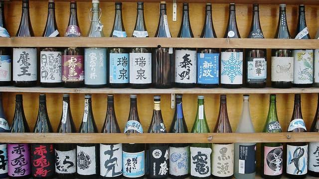 Die Auswahl an Nihonshu (japanischem Sake) ist in Japan sehr groß