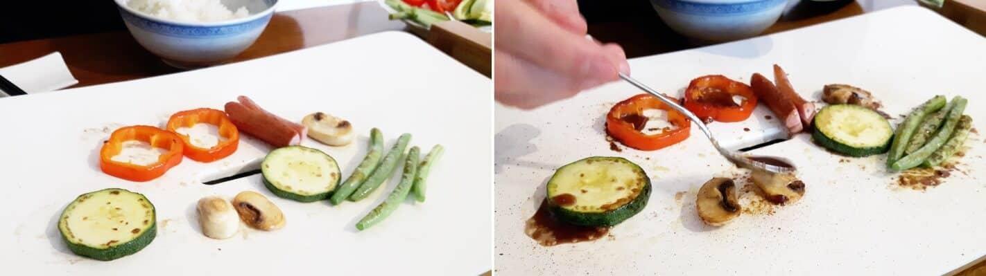 Gemüse vom Teppan Schritt 3 Gemüse marinieren