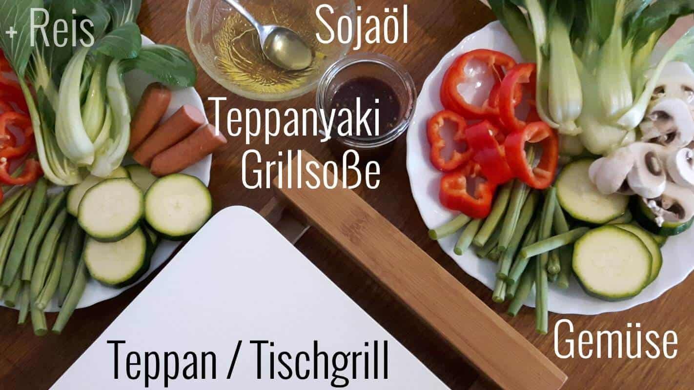 Gemüse vom Teppan Zutaten