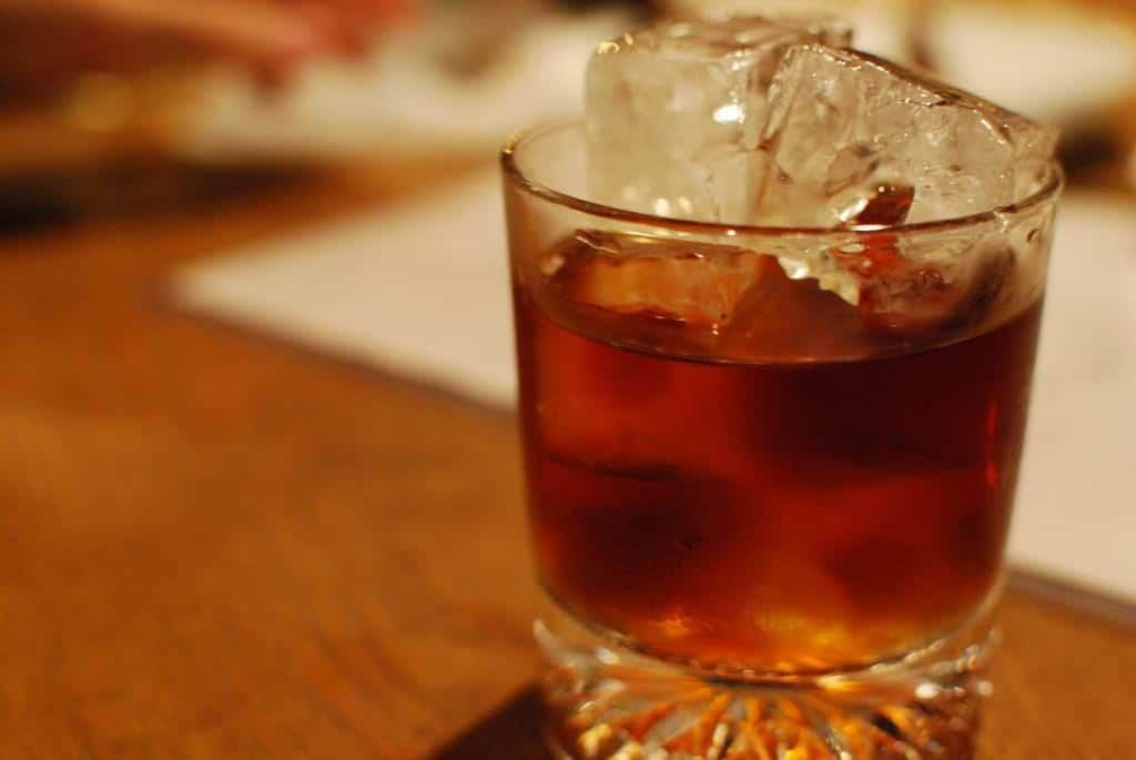 Hier wurde Shochu mit einem kleinen Anteil Kaffee vermischt und als Cocktail serviert.