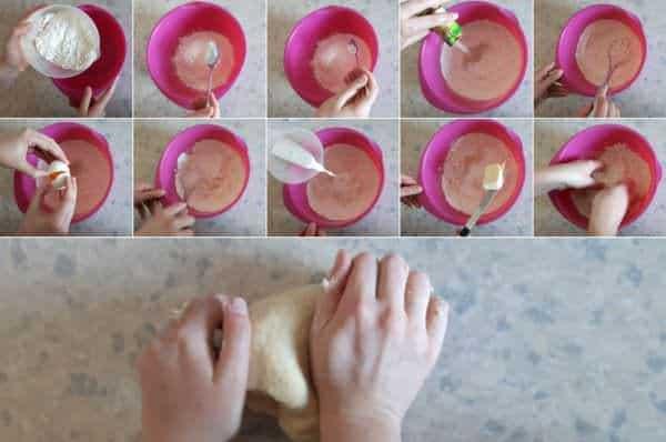 Melonpan Schritt 2 Hefeteig kneten