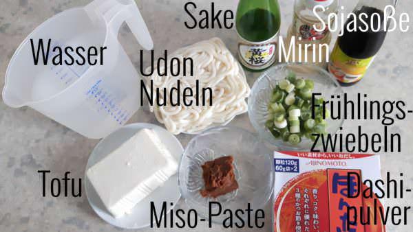 Miso Udon Zutaten