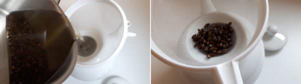 Mugicha Schritt 4 Tee abgießen