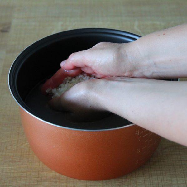 Reis kochen Schritt 2 Reis waschen