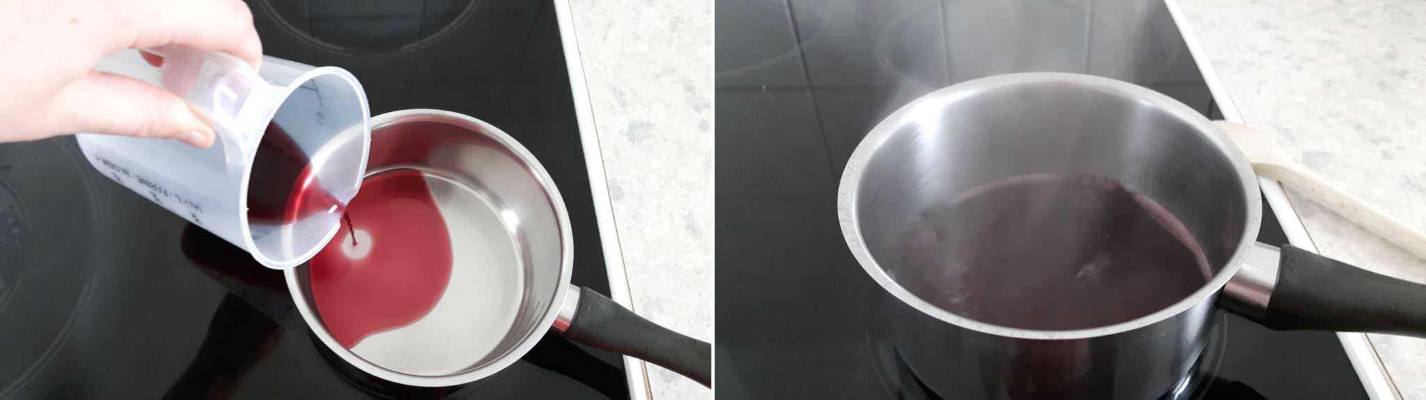 Teppanyaki Grillsoße Schritt 2 Wein kochen