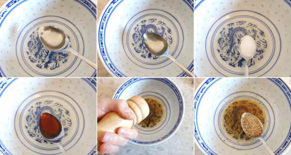 Japanischer Krautsalat Schritt 3 Dressing herstellen