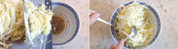 Japanischer Krautsalat Schritt 4 Salat anmachen