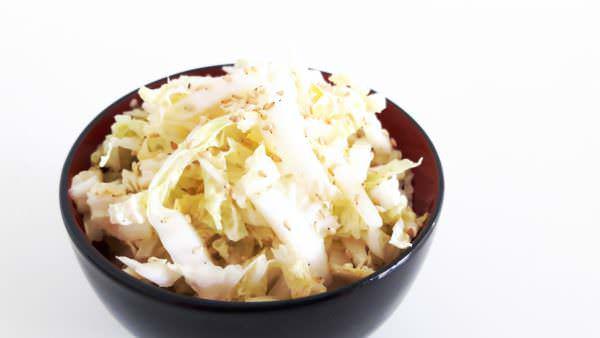 Japanischer Krautsalat Schritt 5 Servieren