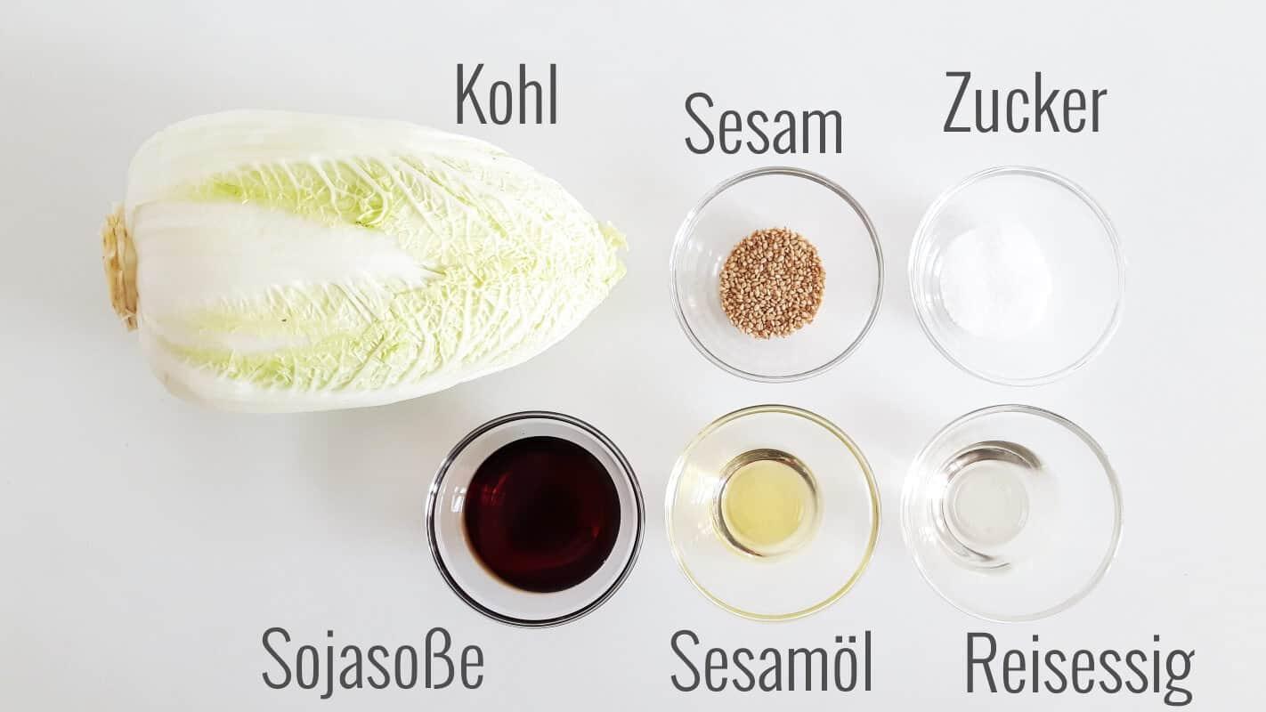 Japanischer Krautsalat Zutaten