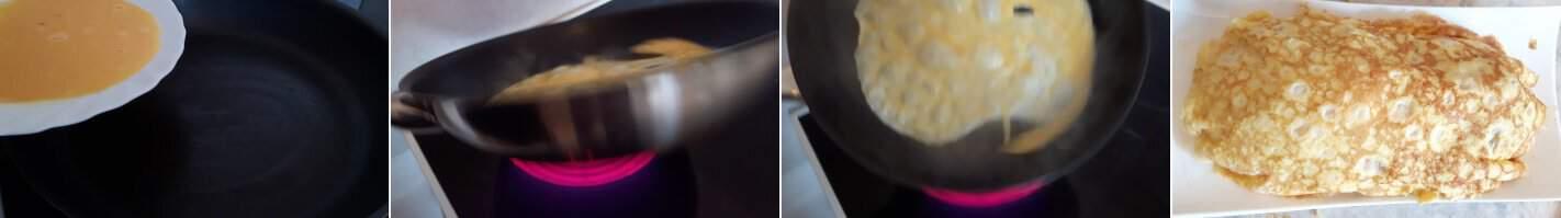 Schnelles Omuraisu Schritt 7 Omelett zubereiten