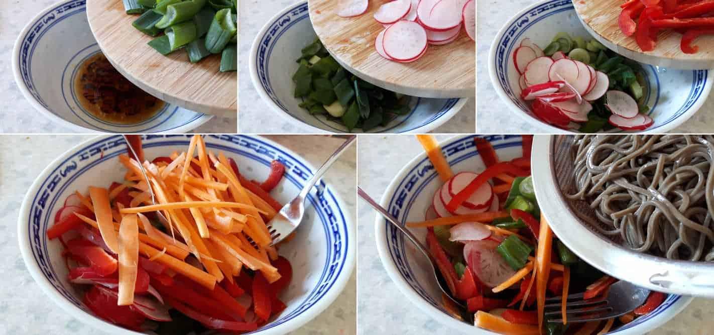 Soba-Nudelsalat Schritt 5 Salat anmachen