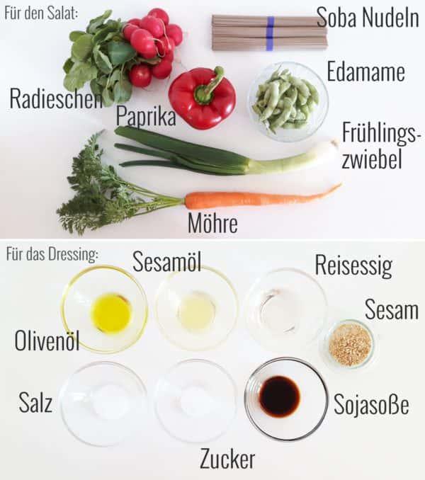 Soba-Nudelsalat Zutaten