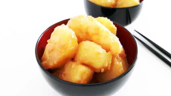 Kartoffeln mit süßem Soja-Butterdressing Schritt 7 Servieren.
