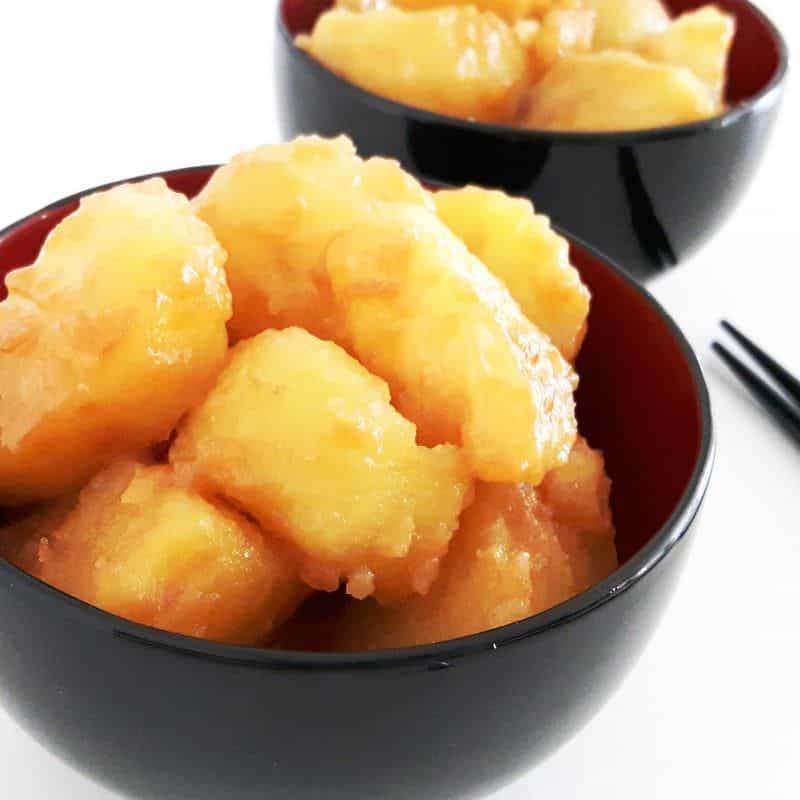 Kartoffeln mit süßem Soja-Butterdressing