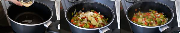 Vegetarische Shoyu Ramen Schritt 3 Gemüse anbraten
