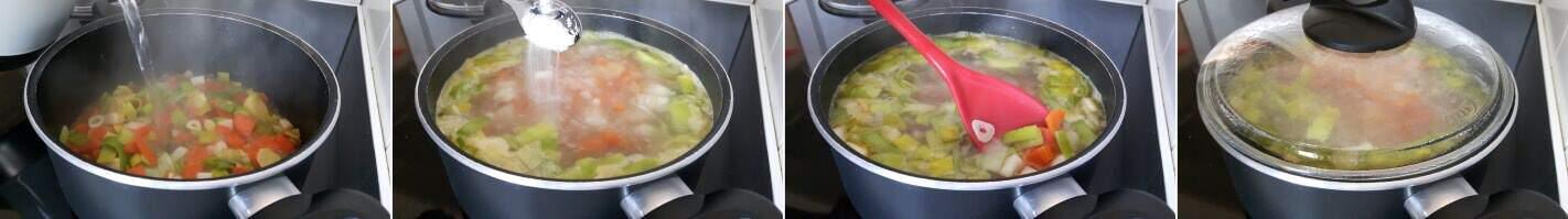 Vegetarische Shoyu Ramen Schritt 4 Gemüse garen