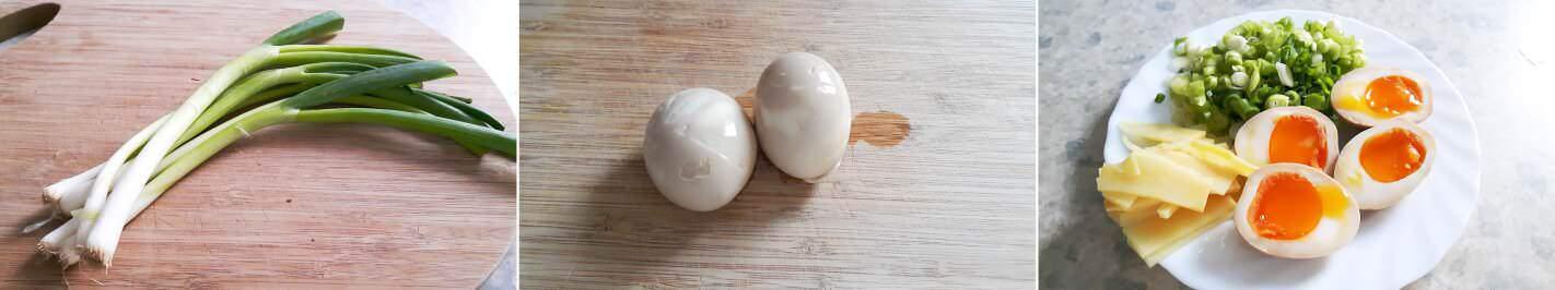 Vegetarische Shoyu Ramen Schritt 5 Beilagen vorbereiten