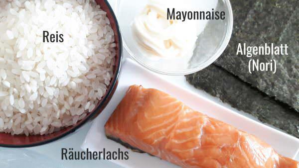 Onigiri mit frischer Lachs-Mayonnaise-Füllung Zutaten