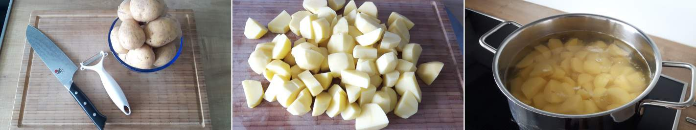 Korokke Schritt 2 Kartoffeln kochen