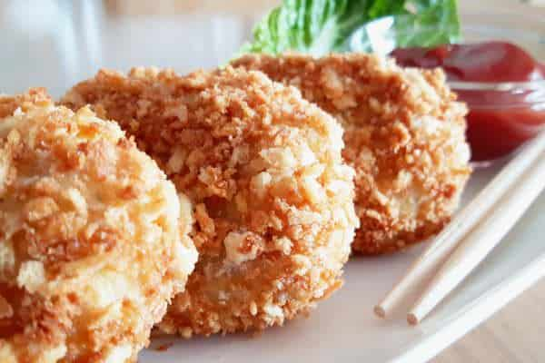 Korokke – vegetarische Kroketten auf dem Ofen
