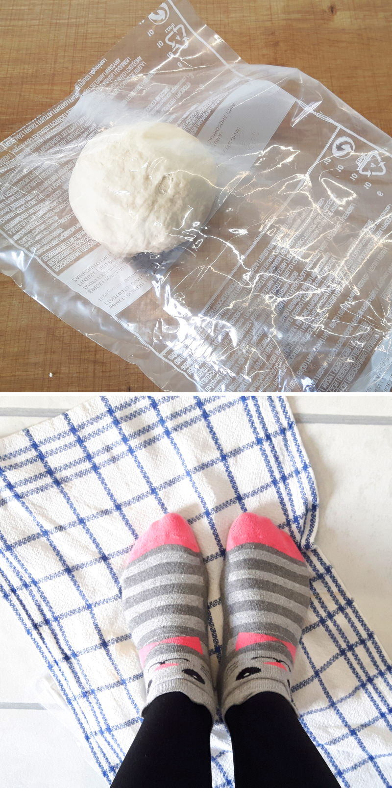 Udon Nudeln selbst machen Schritt 4 Teig kneten