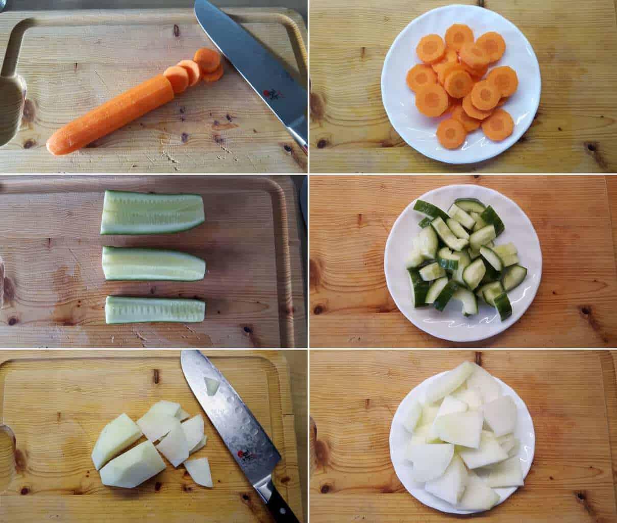 Tsukemono Schritt 2 Gemüse vorbereiten.