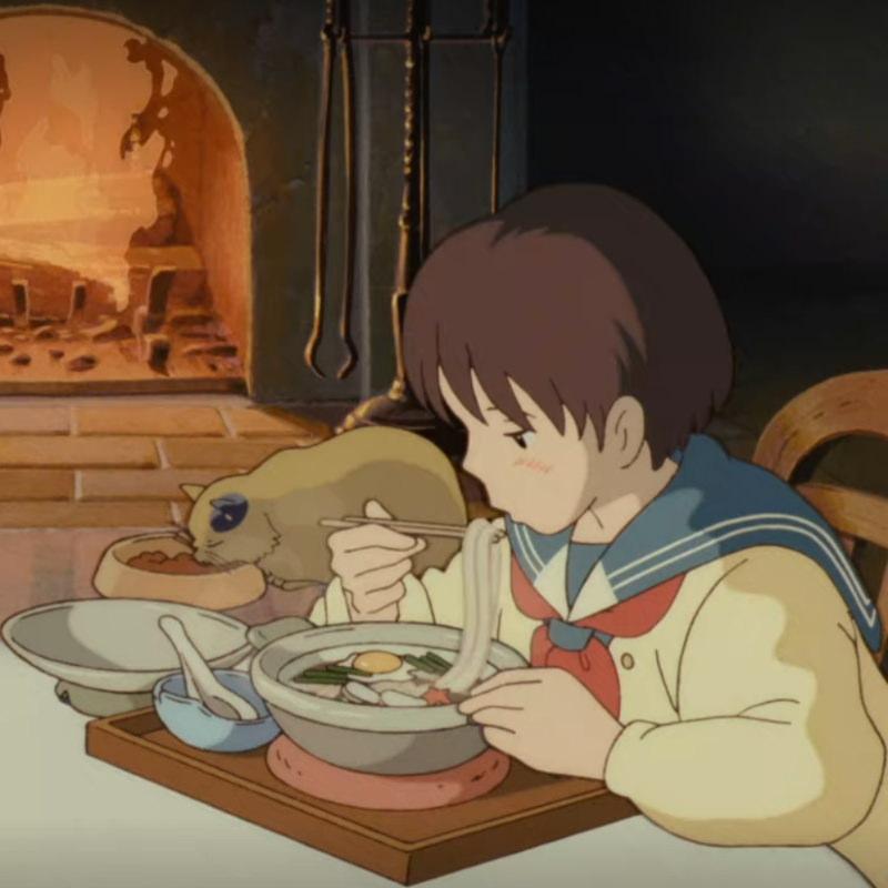 Udon Nudeln beim Studio Ghibli