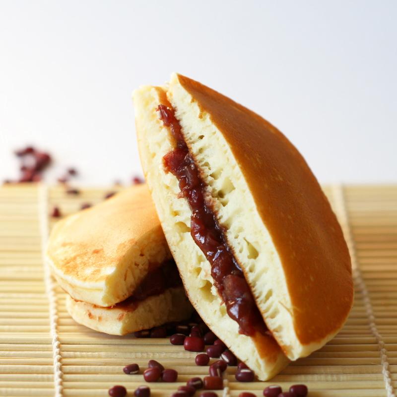 Dorayaki im Anschnitt