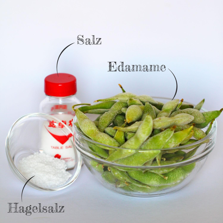 Edamame mit Salz Zutaten