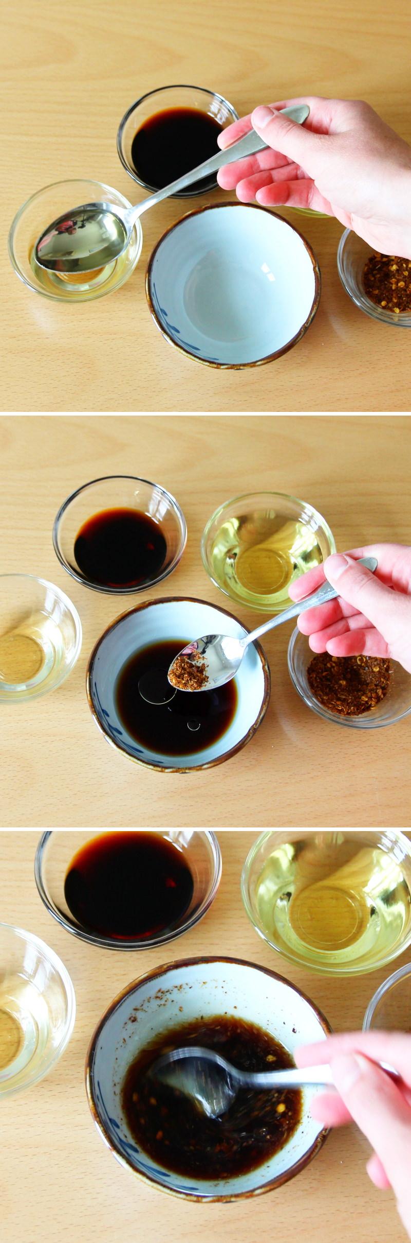 Gyoza mit Dip Schritt 2 Sauce zubereiten