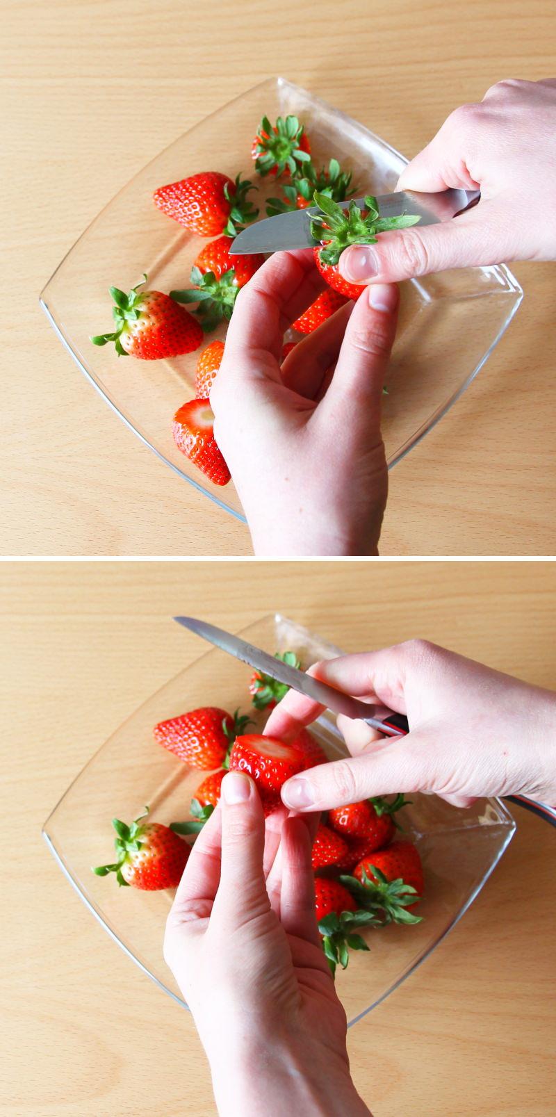 Ichigo Daifuku Schritt 12 Erdbeeren putzen