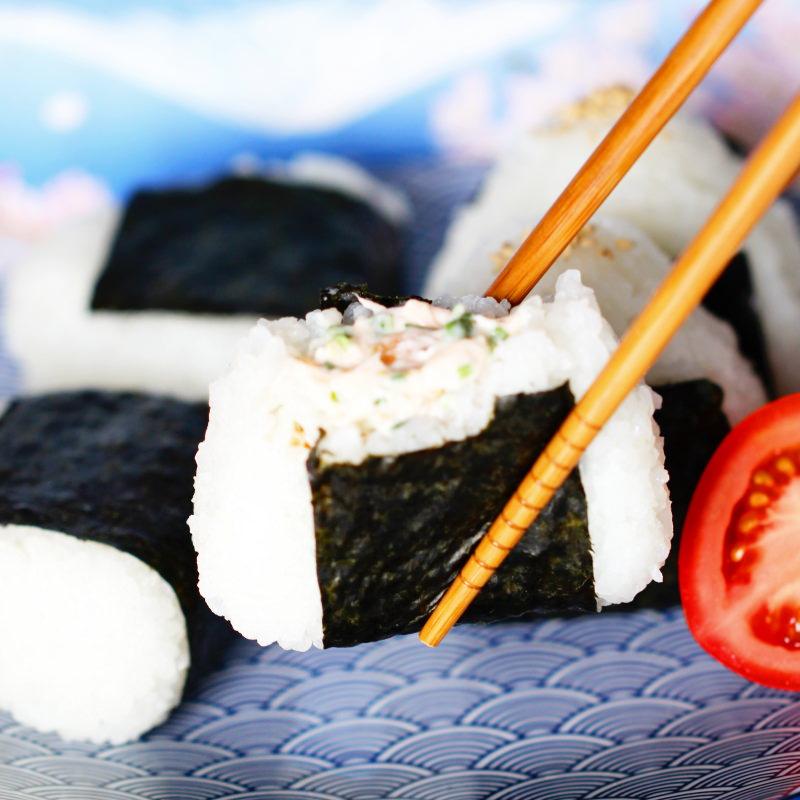 Onigiri mit Lachs Füllung